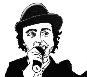 Paul Smith of Maximo Park, an original picture for Velvet Sheep by Ricky Martin.