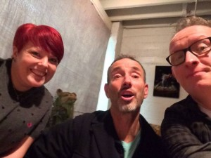 Daren & Gaynor with Jonathan Richman after the show